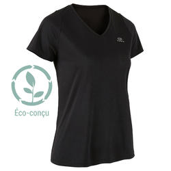RUN DRY WOMEN'S RUNNING T-SHIRT - BLACK
