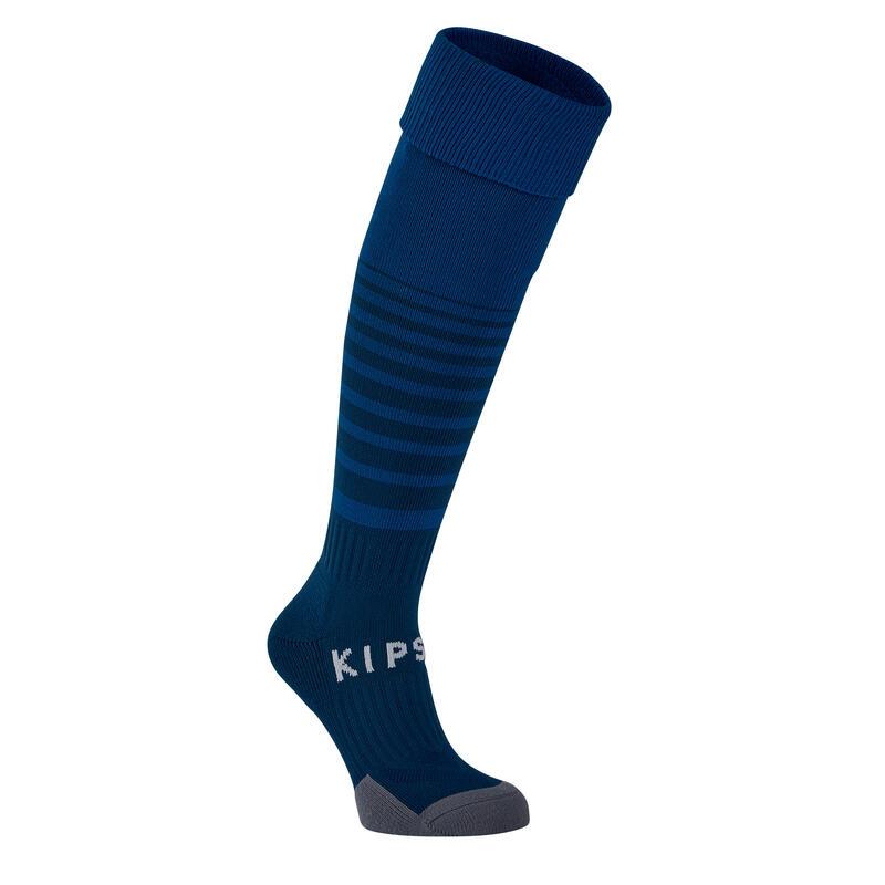 Kids' Football Socks F500 - Petrol Blue