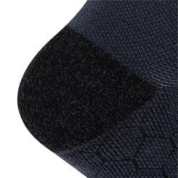 Hoge hardloopsokken van merinowol zwart