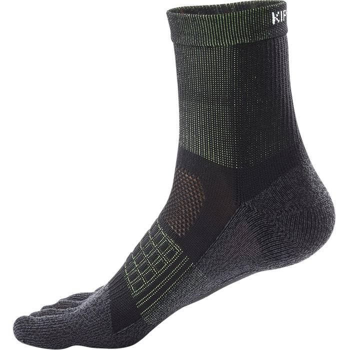RUNNING 5-FINGER SOCKS - BLACK/YELLOW