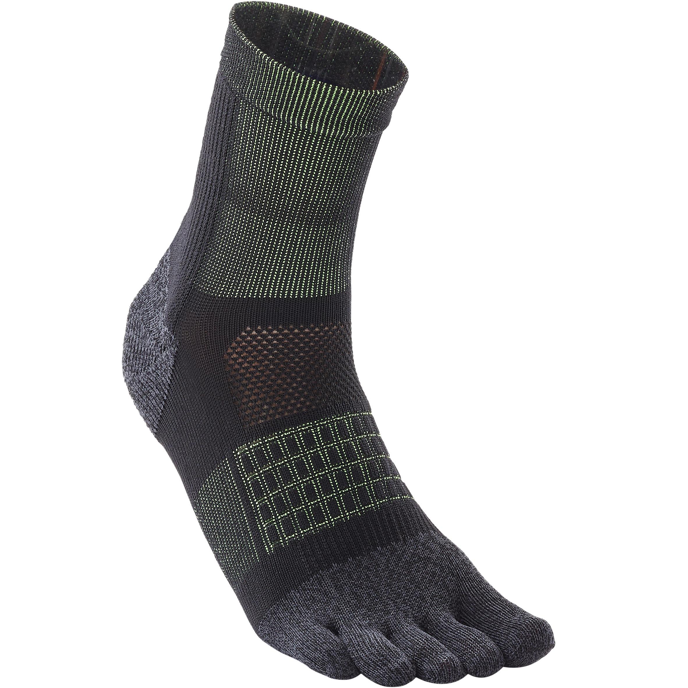 RUNNING 5-FINGER SOCKS - BLACK/YELLOW