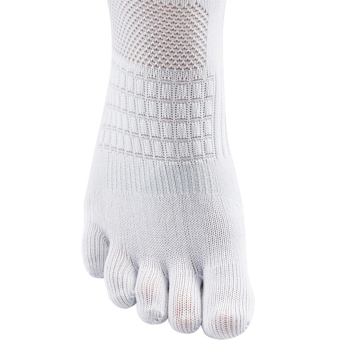 五指跑步襪 - 白色