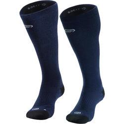 Hoge hardloopsokken van merinowol Run900 blauw