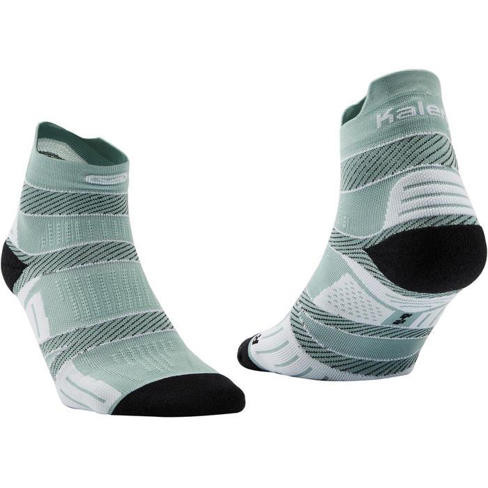 束帶式薄跑步襪 - 灰色