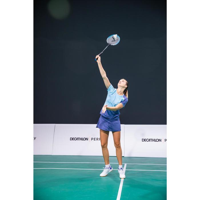 T-Shirt de badminton Femme 530 - Gris/Bleu