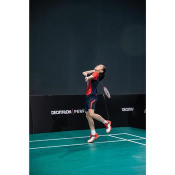 Short de badminton Junior 560 - Marine/Rouge