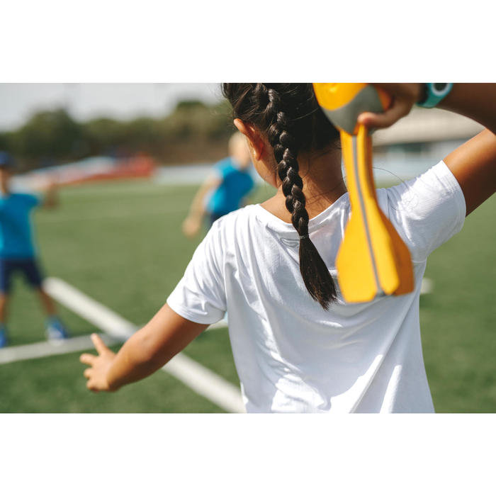 Atletiekshirt voor kinderen AT 100 wit
