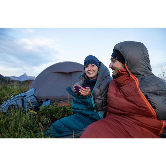 Trekking Down Sleeping Bag Trek 900 0° - red grey