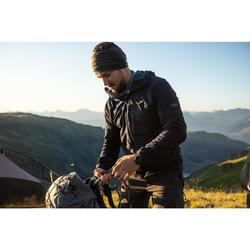 Multifunctionele nekwarmer voor bergtrekking Trek 500 merinowol kaki