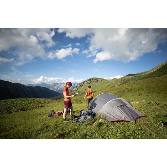 Short de trek montagne - TREK 500 violet femme