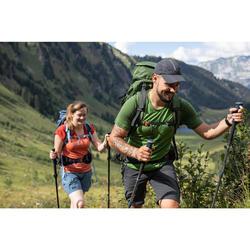 Ventilerende pet voor bergtrekking Trek 500 donkergrijs