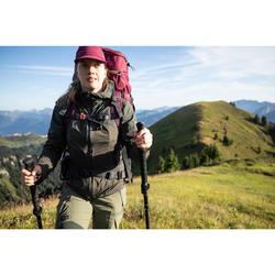 Ultracompacte geventileerde pet voor bergtrekking Trek 500 paars