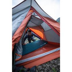 Tente dôme de trekking autoportante 3 saisons - TREK 500 gris orange 3 personnes