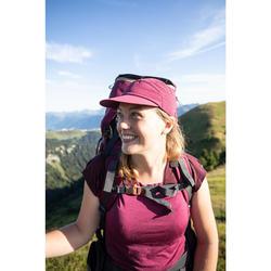 Merino T-shirt voor bergtrekking dames Trek 500 paars