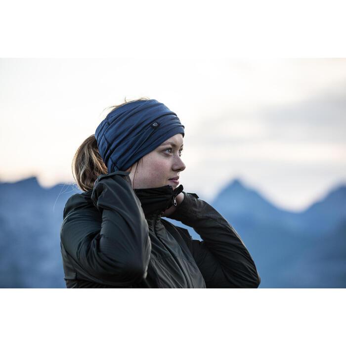 Bandeau de Trekking montagne TREK 500 multi-position laine merinos bleu