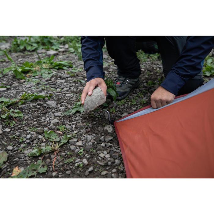 Tente dôme de trekking autoportante 3 saisons - TREK 500 gris orange 2 personnes