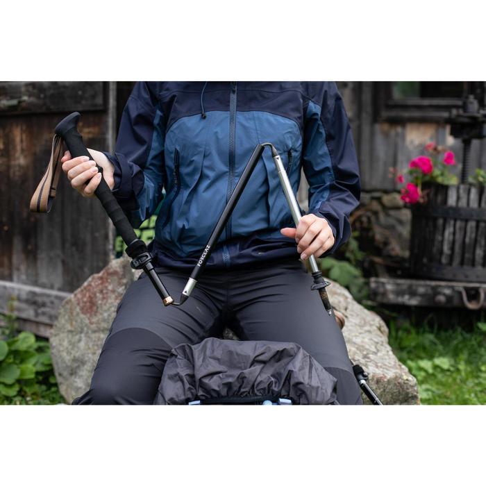 1 bâton ultra compact de trekking - MT500 noir