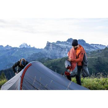 TREKKING MUMMY SLEEPING BAG - TREK 900 0°C FEATHER DOWN - RED GREY