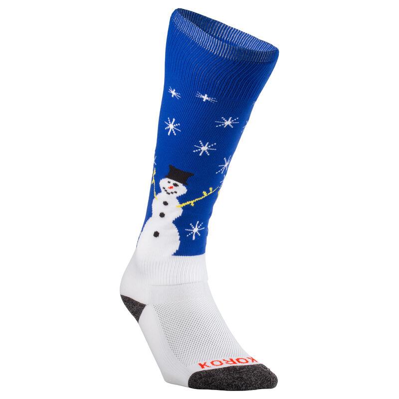 Hockeysokken voor kinderen en volwassenen FH500 kerst