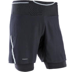 Short met tight voor traillopen heren Comfort zwart