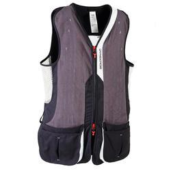 Vest voor kleiduifschieten 520 Sporting grijs