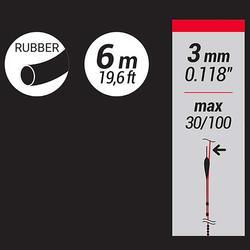 Vol elastiek in latex voor statisch vissen 3 mm 6 m