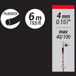 Vol elastiek in latex 4 mm 6 m