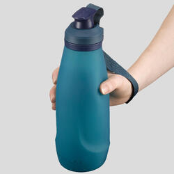 1L軟式可壓縮多日登山水壺TREK 500 Soft - 藍色