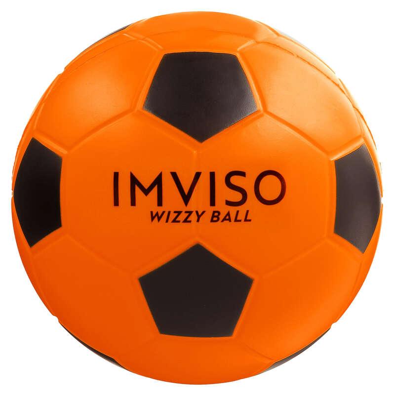 Piłki do gry na hali Bramki i piłki do piłki nożnej - WIZZY rozm.4 pom-czarna IMVISO - Dzień Dziecka