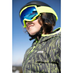 Ski-jas voor kinderen Warm Reverse 100 zwart/geel
