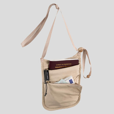 Security Neck Pouch Travel - Beige