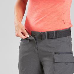 Afritsbroek voor backpacken dames Travel 500 grijs