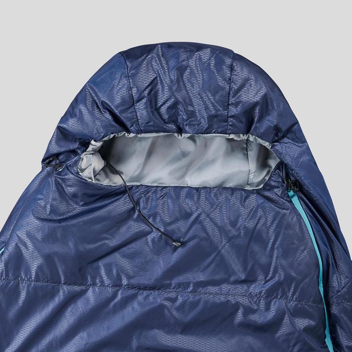 Slaapzak voor trekking Trek 500 15° blauw