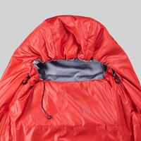TREKKING MUMMY SLEEPING BAG - TREK 500 15°C WADDING TWINNABLE - RED