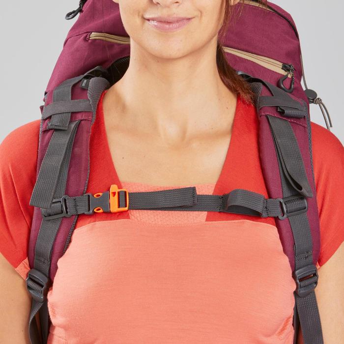 T-shirt mérinos de trek montagne - Trek 500 corail femme