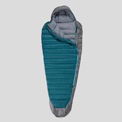 Slaapzak voor trekking Trek 900 10°C mummievorm dons blauw/grijs