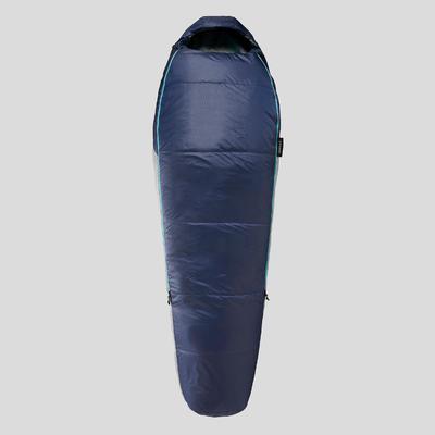 TREKKING MUMMY SLEEPING BAG - TREK 500 15°C WADDING TWINNABLE - BLUE