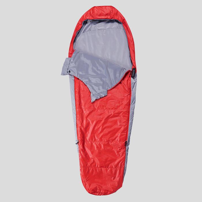 Slaapzak voor trekking Trek 500 15° rood