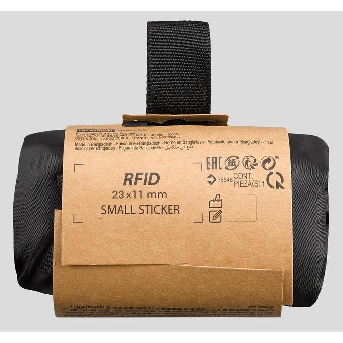 Housse de compression de sac de couchage trek 8L noire