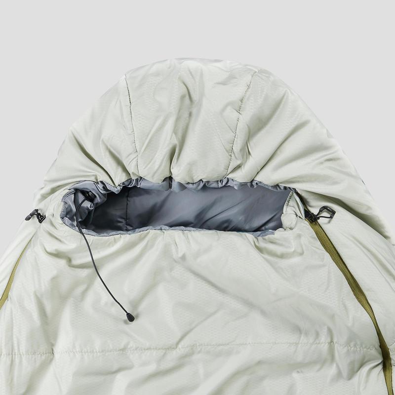 Saco de dormir de trekking TREK 500 10° light gris