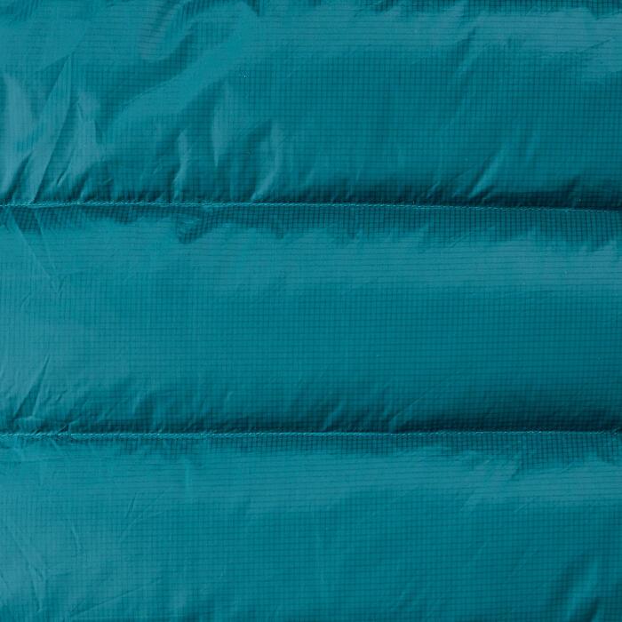 SAC DE COUCHAGE SARCOPHAGE DE TREKKING - TREK 900 10°C DUVET PLUME BLEU GRIS