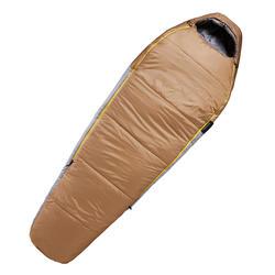 健行睡袋TREK 500 0°-淺棕色