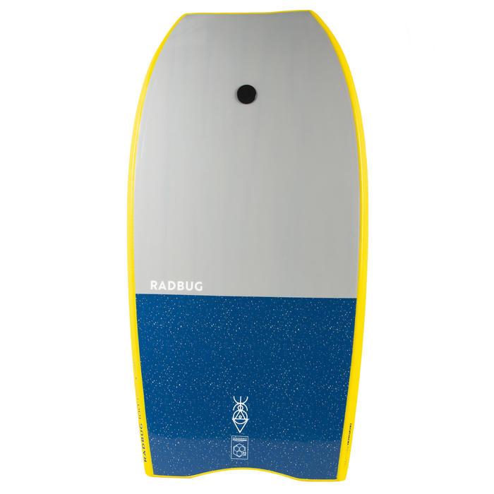 Bodyboard 100 geel met pols leash