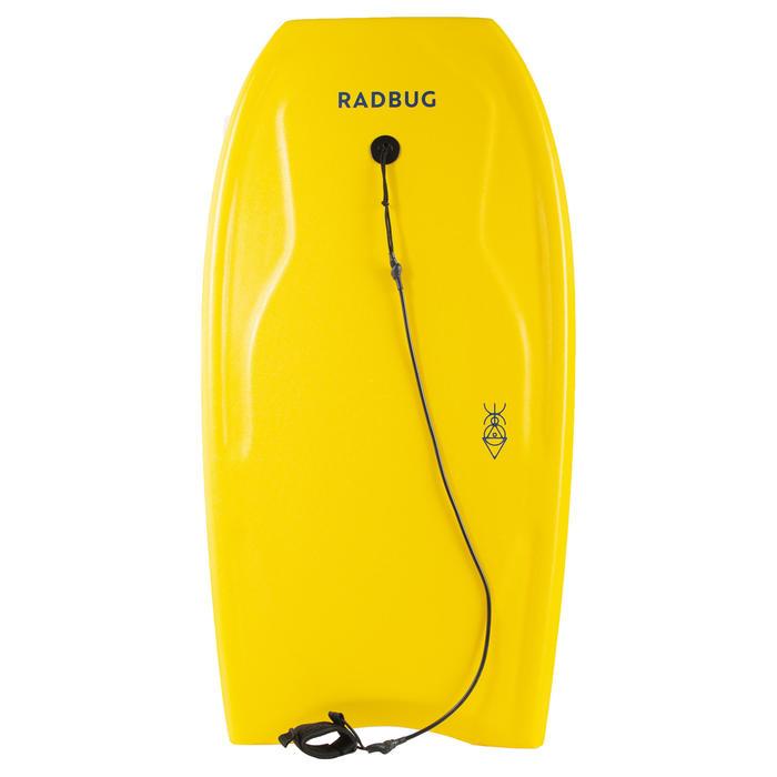 Bodyboard 100 jaune avec leash poignet