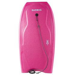 Bodyboard 100 roze met pols leash