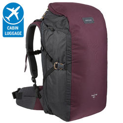 TRAVEL Backpack 100 _PIPE_ 40 Litre- Maroon