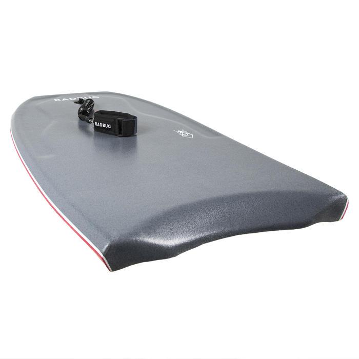 Bodyboard 500 grijs/rood met arm leash
