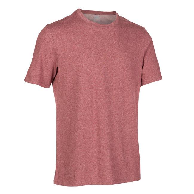 Men's Gym T-Shirt Regular Fit 500 - Burgundy