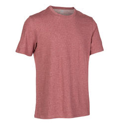 Men's Gym T-Shirt Regular Fit 500 - Burgundy