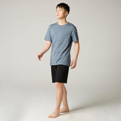 Pilates & Gentle Gym Regular-Fit T-Shirt 500 - Grey Print